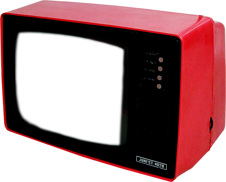 old tv red